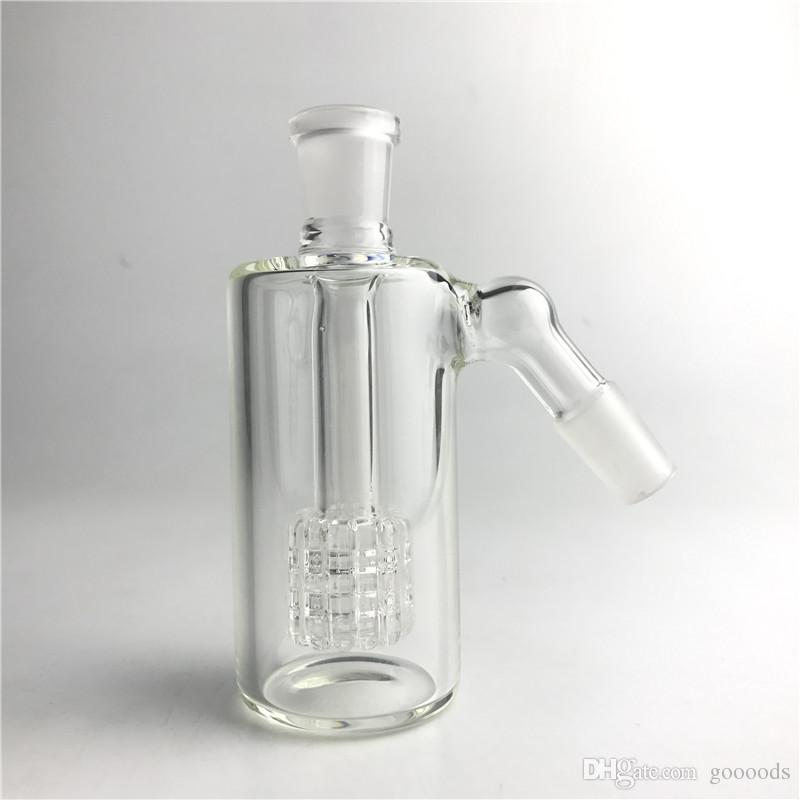 Thick Pyrex Glass Bong Ash Catcher with 14mm 14.4mm 4.5 Inch Mini Bubbler Ash Catchers Clear Glass Water Ashcatcher