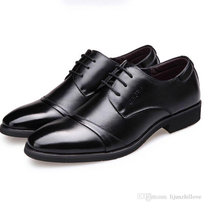 2017 New Men Dress Shoes Business Suits Wing Tip Oxford Shoes Men ...