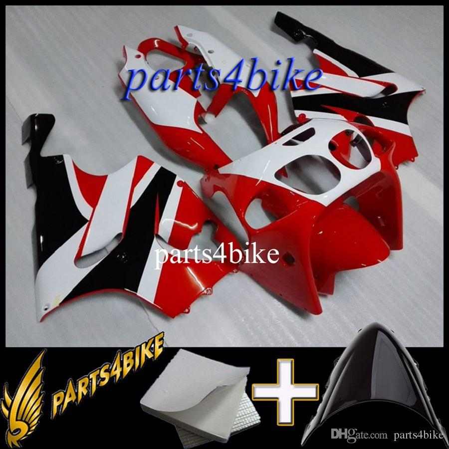 Aftermarket Plastic Fairing for Kawasaki ZX7R 96 03 ZX-7R 1996-2003 96 97 98 99 00 01 02 03 red white black Motorcycle Body Kit