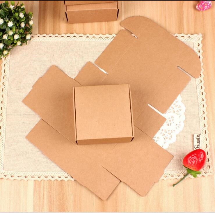 Digital Printing Joy Kraft Cardboard Boxes Handmade Soap Packaging Box Handmand Gift Package Kraft Boxes 2 Size Can Choose