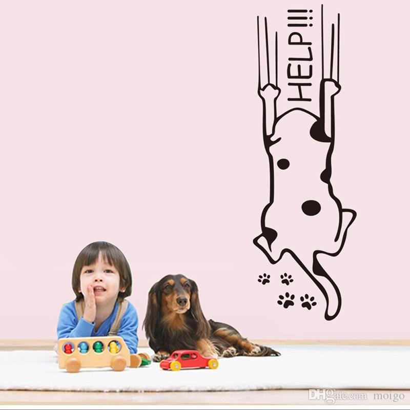 Buzdolabı Buzdolabı Duvar çıkartmaları karikatür çocuk mutfak dolabı mobilya cam çıkartmaları Ev dekorasyon yardım kedi tırnaklar