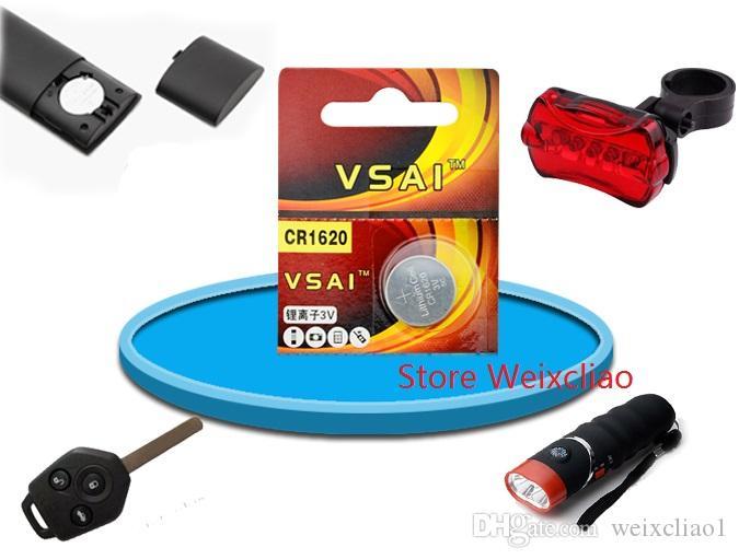 20 stücke 1 los CR1620 3 V lithium li ionen-knopfzelle CR 1620 3 Volt li-ion münze batterien VSAI Kostenloser Versand