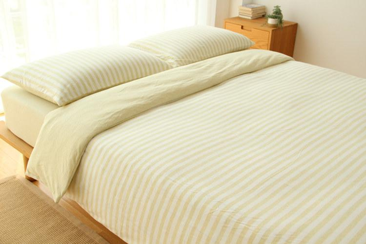 conjunto de cama hometextile lençol e folha de cama kintted tecido tarja com desenhos de cor sólida decration simples