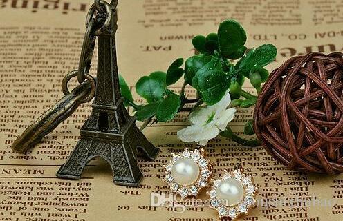 2017 Nuova moda orecchini di perle di diamanti Apple fiore di sole femminile clip gioielli coreano non trafitto