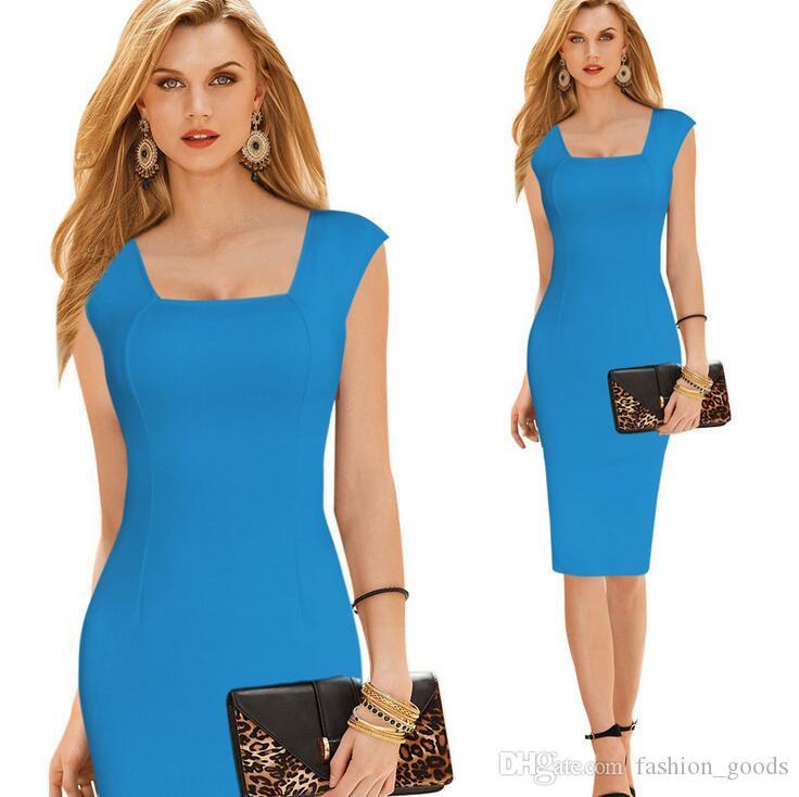Buona A ++ Abiti da lavoro moda elegante Lato del colletto Pants Dress da donna Sexy Dress NLX012