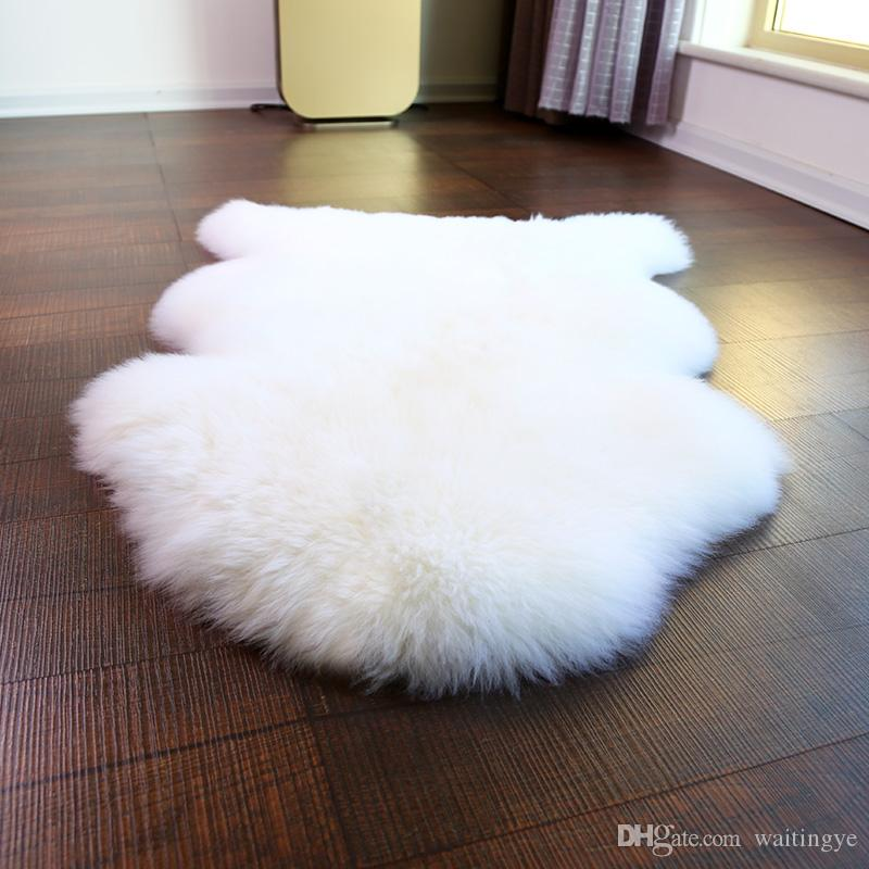 newzealand 1p 70100cm real sheepskin rug natural white color shaggy sheep skin carpet for home decor fur floor cover sofa cover blanket carpeting costs