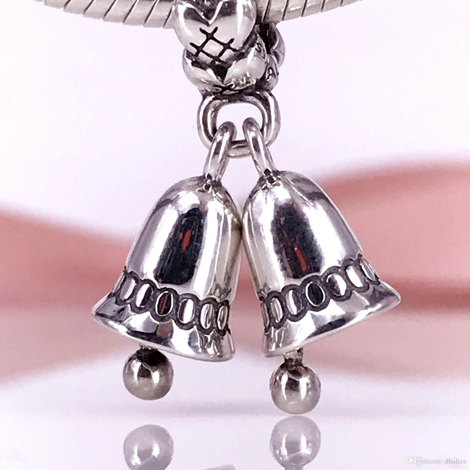 854ecf3f9 ... coupon code for 2018 authentic 925 sterling silver christmas bells  dangle charm fit diy pandora bracelet ...