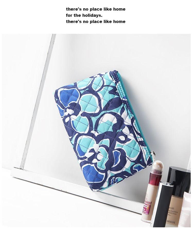 Wholesale-2017 new style woman fashion bags Printing Hand Bag Zipper Small Makeup Bag Ladies Nylon Cosmetic Bag For woman