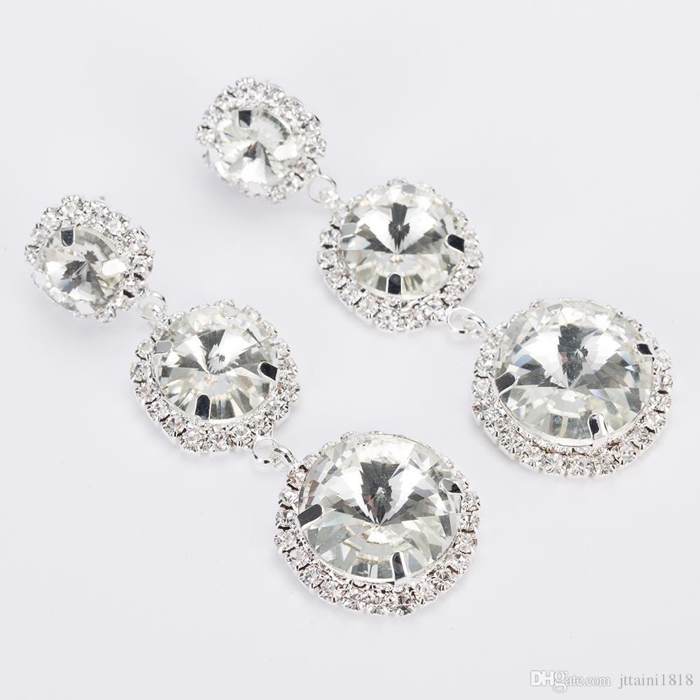 YFJEWE Neue Ankunft Schmuck Top-qualität Strass Kristall Ohrhänger für Frauen Hochzeit Modeschmuck Geschenk für Mädchen E293