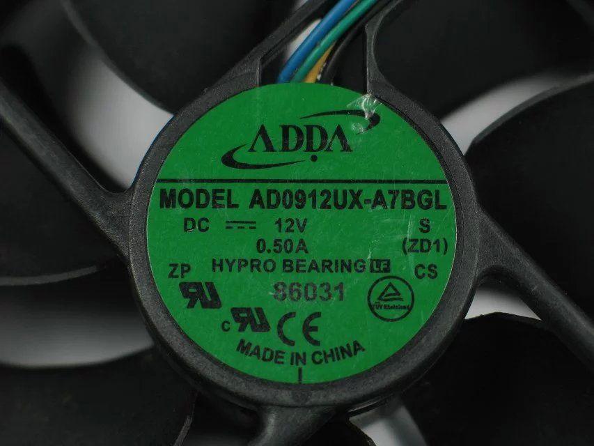 ADDA AD0912UX-A7BGL ZD1 DC 12V 0.50A 4-poliger 4-poliger Stecker 90mm, 90x90x25mm Server Square Lüfter