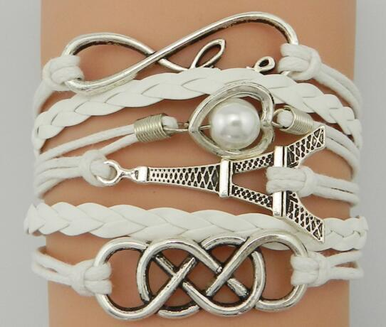 Infinity Love Horses Lover Mustang Charm Bracelet Leather Cuff Wrist Handmade Band Best Gift Jewelry for Women Xmas Gift