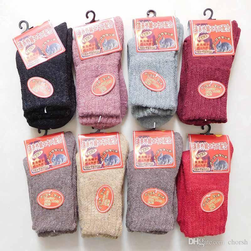 Calzini liberi della lana del Giappone di DHL i calzini caldi d'anguria del coniglio di ispessimento dell'inverno le donne