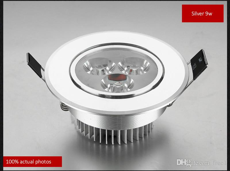 New 9w Led Downlights led down light Aluminum material AC85-265v or 12v ceiling lamp For Home Lighting Decoration CE UL SAA