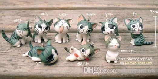 Nette Schlüsselring Japaner Maneki Neko Käse Katze Mobile Keychain Glückliche Katze Handy Charme Hangings Zubehör für Telefon Schlüsselanhänger DHL Frei