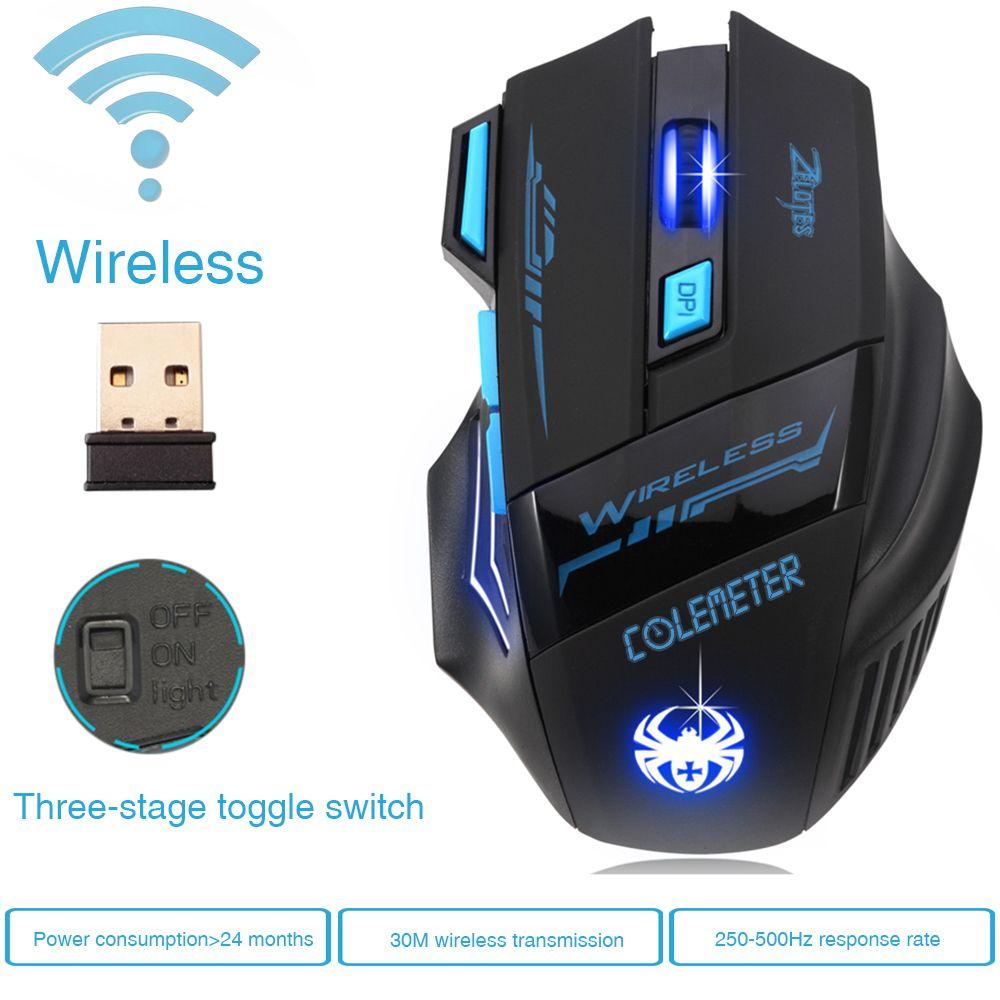 7e500c026b0 Wholesale- Super Hot Wireless Mouse Gamer Game Mouse Optical 2400DPI ...