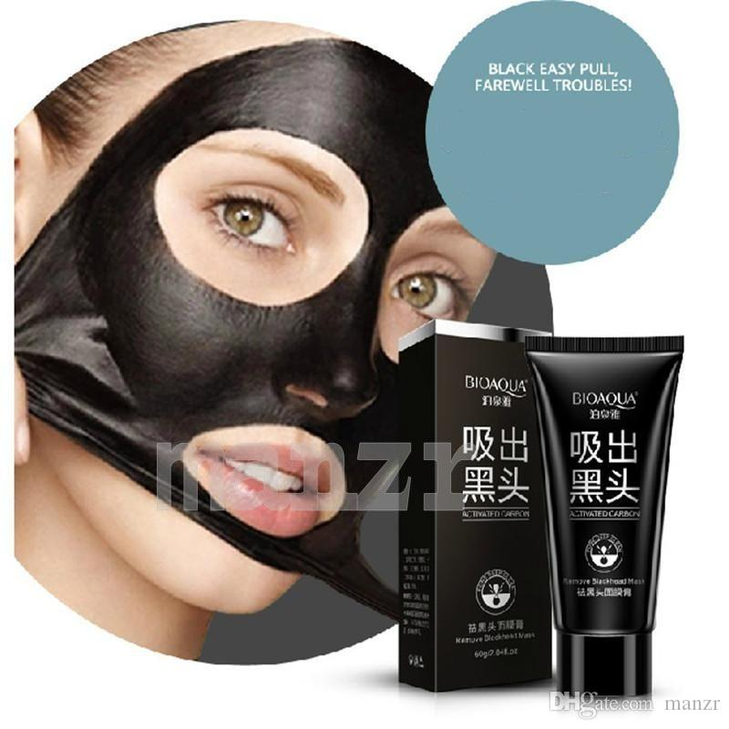 BIOAQUA Blackhead Facial Mask Women And Men Remover Black Mud Mask Suction  Deep Cleansing Face Mask Tearing Style Resist Skin Black Head Facial Mask  Acne ... 2d2c9ad7db