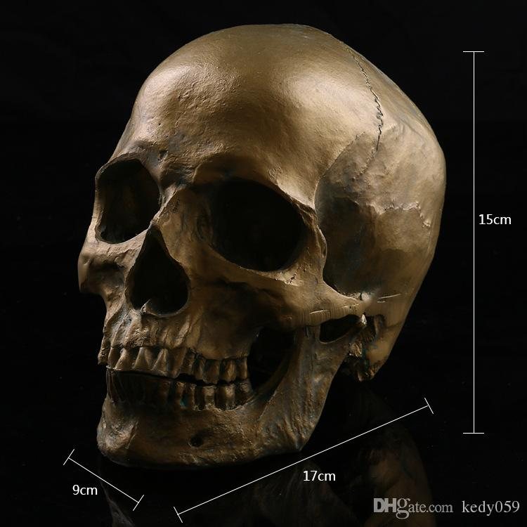 2018 Antique High Accurattion Resin Human Separated Skull