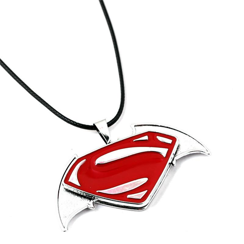 Hot Moive Necklaces Iron Man Superman Spider-man Pendant Necklaces Alloy Necklaces & Pendants Leather Necklace For Gift