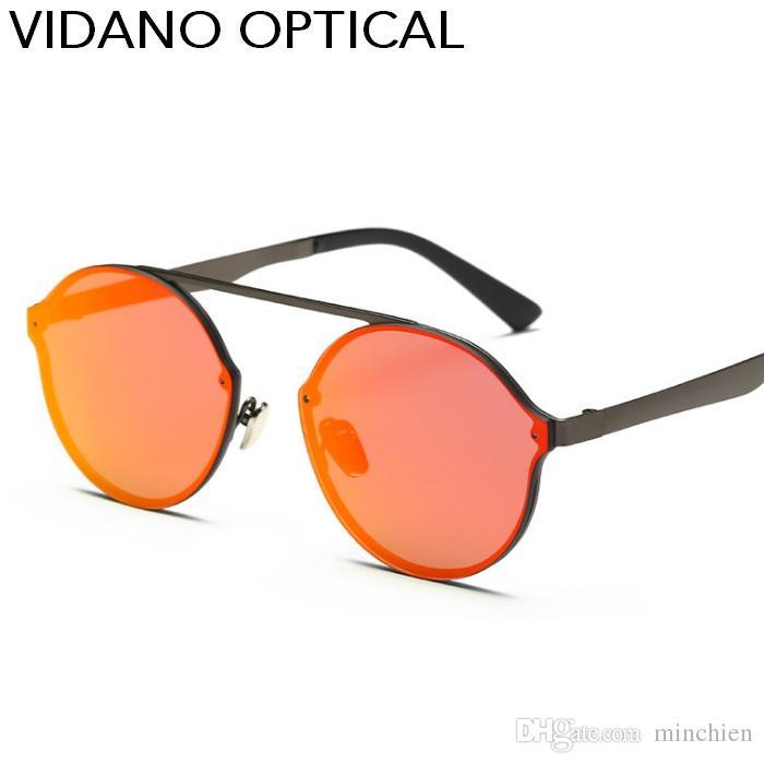 6dd84ecda6e Vidano Optical Latest Classy Luxury Round Oval Sunglasses For Women   Men  Sun Glasses Fashion Brand Designer Rimless Eyewear Gradient UV400 Sunglasses  Case ...