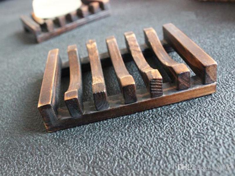 Vintage Jabonera de madera Plato Soporte de bandeja Jabonera de madera Soportes de ducha de baño Lavado de manos