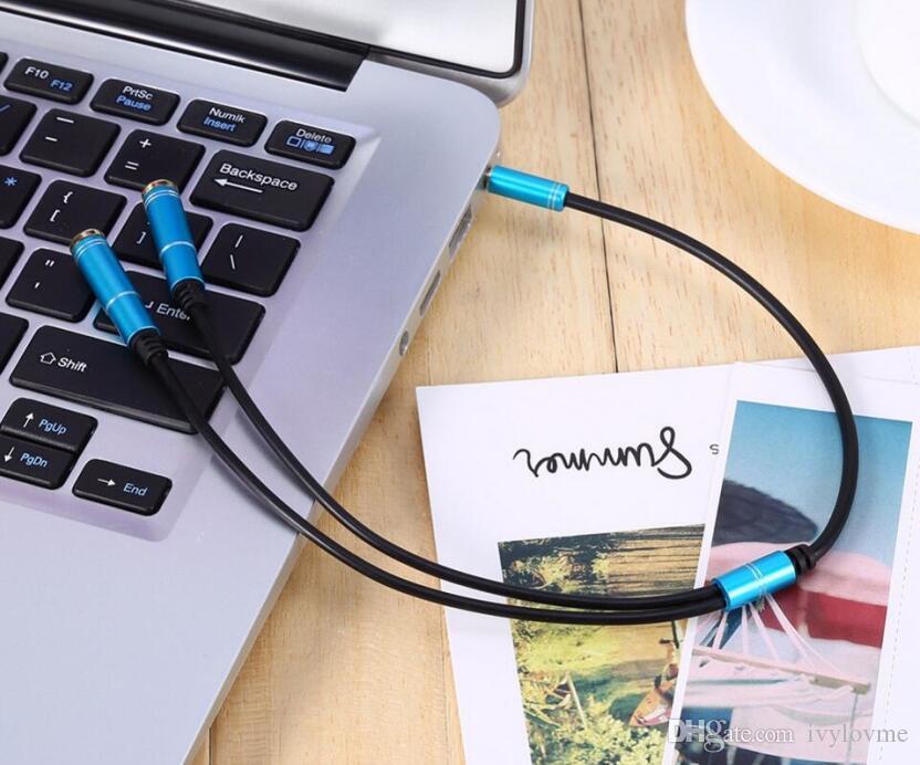 3.5 мм гарнитура микрофон пара аудио кабель качество мужской до 2 Женский Aux расширение Splitter Кабо для микрофона наушники телефон PC шнур