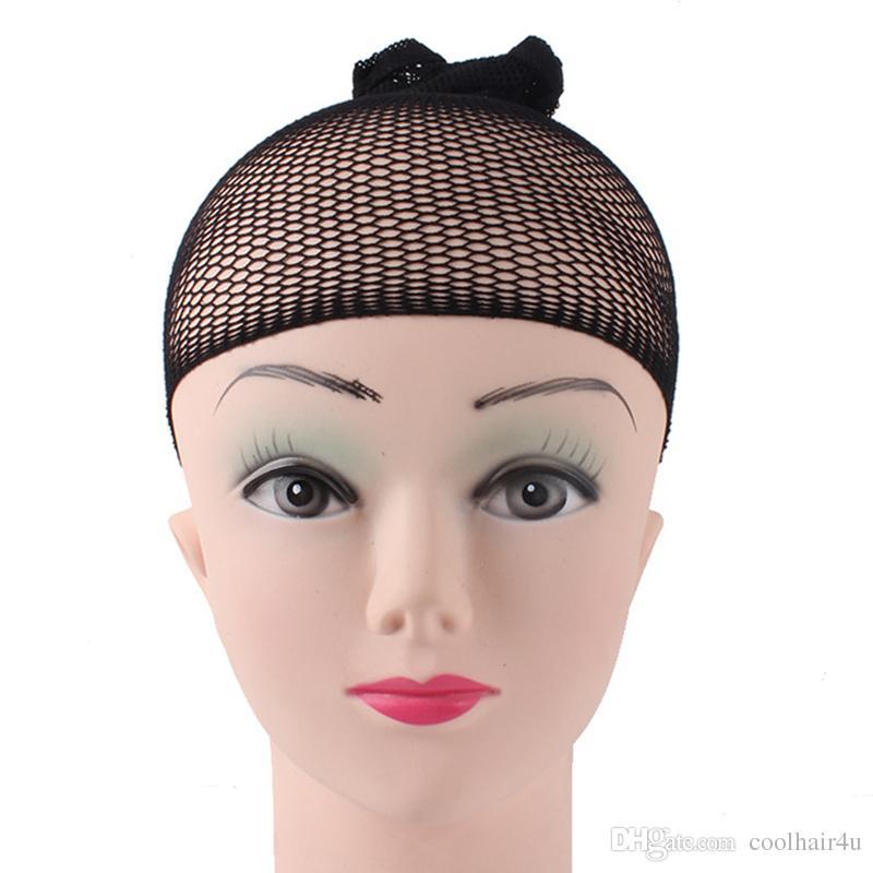 1 adet / grup Görünmez Naylon Saç Ağları Ile Elastik Yeni Moda Serin Mesh Kapaklar Peruk Siyah Spandex Kap Boyutu Kontrol Dokuma Kap