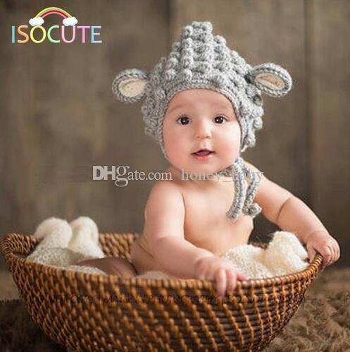 Großhandel Neugeborenes Baby Mädchen Junge Schaf Hut Infant ...