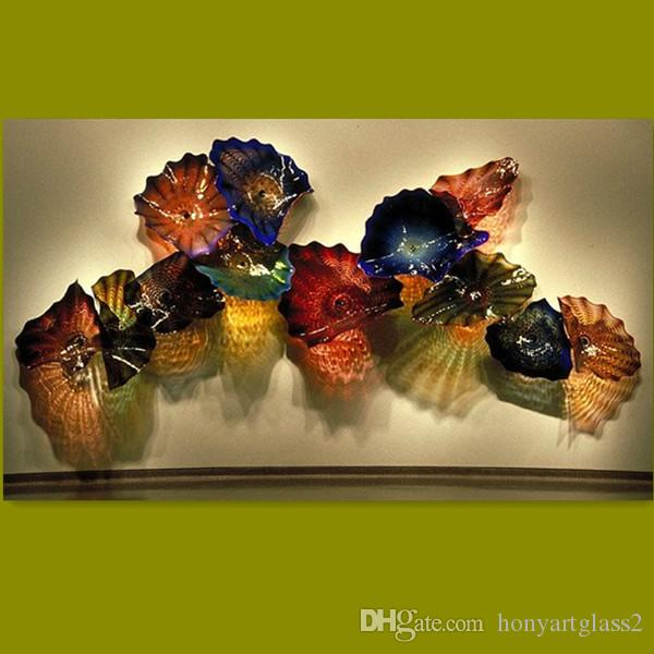 2018 Led Wall Plates Multi Color Handmade Blown Glass Wall Sconces ...