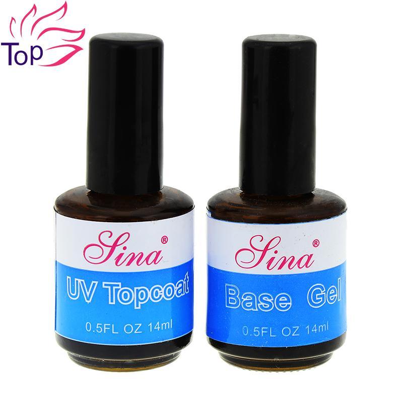 Wholesale 14ml Uv Top Coat + Primer For Nail Foundation Uv Gel Base ...