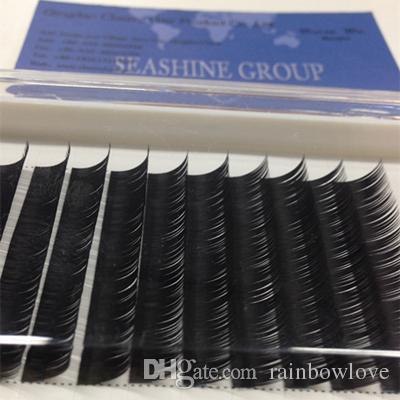 High quality eyelash extension silk individual eyelash extension natural eyelashes,false eyelashes C D Curling 0.07mm-0.20mm Thick 8mm-15mm
