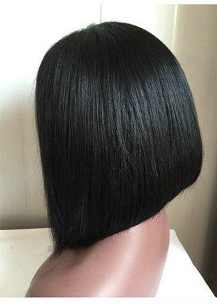 8A Short Bob Wig 12inch Full Lace Wigs Human Hair Brazilian Short Bob Lace Front Wigs Virgin Hair Cuts Bob Human Hair Wigs