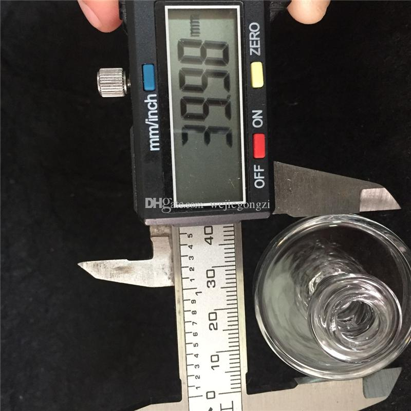 2017 Universal Glass Bubble 35mm Carb Cap Hat style dome for Thermal Quartz Banger Nail glass water pipes in stock