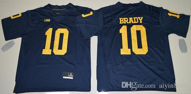 tom brady michigan jersey mens