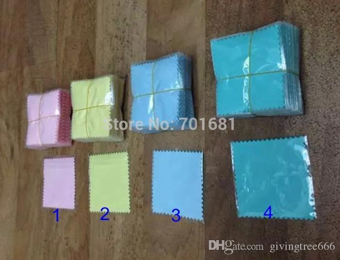 Epackfree 200 pz 8 * 8 cm MISTO i argento polacco sacchetti di opp Panno gioielli in argento Cleaner tessuto scamosciato materiale
