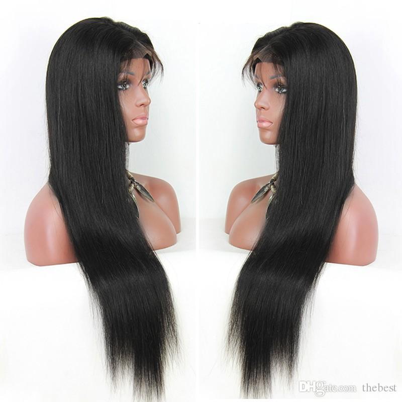 أسلوب حر يشبع شريط شعر مستعار حريري مستقيم البرازيلي الماليزية الإنسان أفضل شعر مستعار مع شعر الطفل للنساء السود