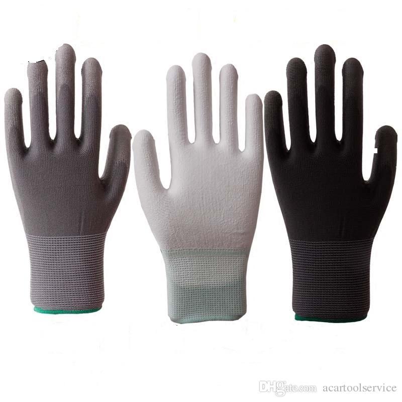 pu قفازات العمل قفازات النخيل المغلفة سلامة العمل مكان العمل السلامة ، قفازات السلامة guantes trabajo 24 قطع =