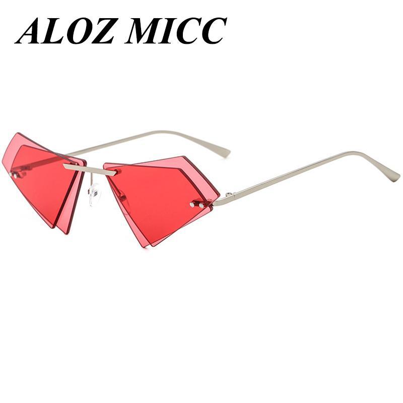 4aefd11e4d7 ALOZ MICC Fashion Irregular Design Rimless Sunglasses Women Brand Double  Lens Sun Glasses Men Clear Mirror Shades Oculos UV400 A362 Boots Sunglasses  Tifosi ...