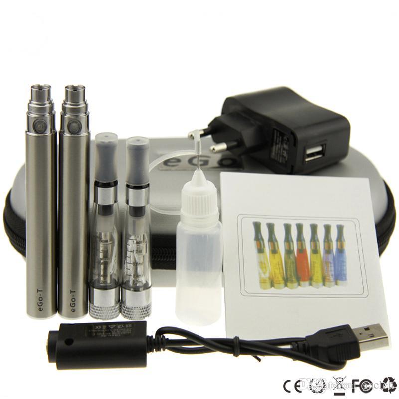 kits ego CE4 plus Cremallera eGo kit doble Estuche de cigarrillos electrónico Kit grande Cigarrillo electrónico 650mah 900mah 1100mah Batería CE4 + tanque Vaporizador