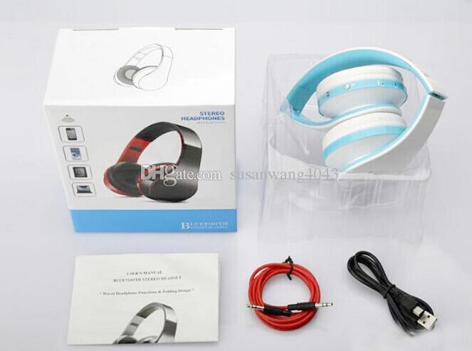 Pliant Bluetooth Stéréo Casque écouteur bluetooth casque mains libres pour iphone s7 s6 android avec 3.5 mm prise USZ072