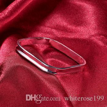 도매 - 소매 최저 가격 크리스마스 선물, 무료 배송, 새로운 925 실버 패션 팔찌 B053