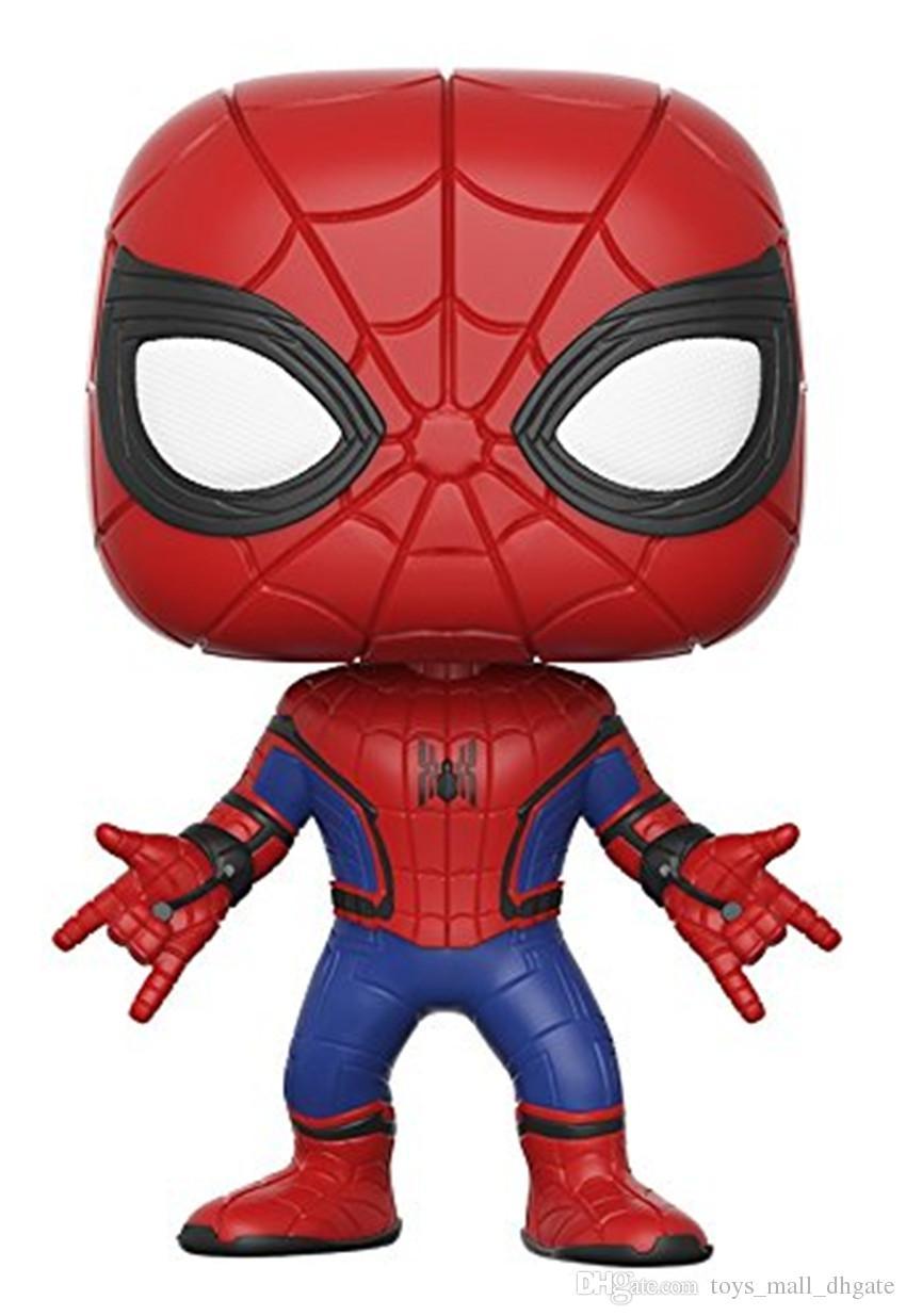 2019 cartoon spider man action figure 10cm pvc spider man new suit