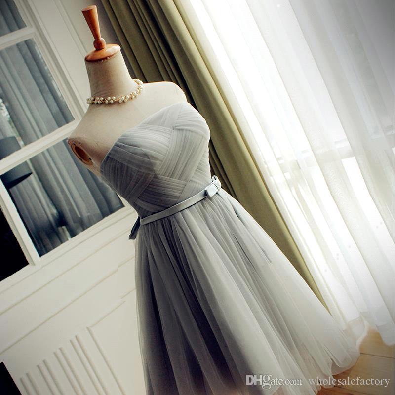 Ucuz Genç Gelinlik Modelleri Seksi Koyu Mor Kısa Mezuniyet Elbiseleri Hizmetçi. Sınıf Onur Elbise Vestido de Festa Curto CPS400