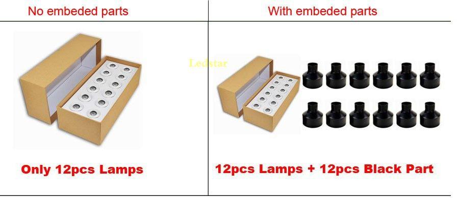 LED Escalier Lumière Applique Murale Encastré Lampe 1W CREE 12V IP67 Étanche Étape Étape Deck Deck Lumière Kit D'éclairage D'escalier