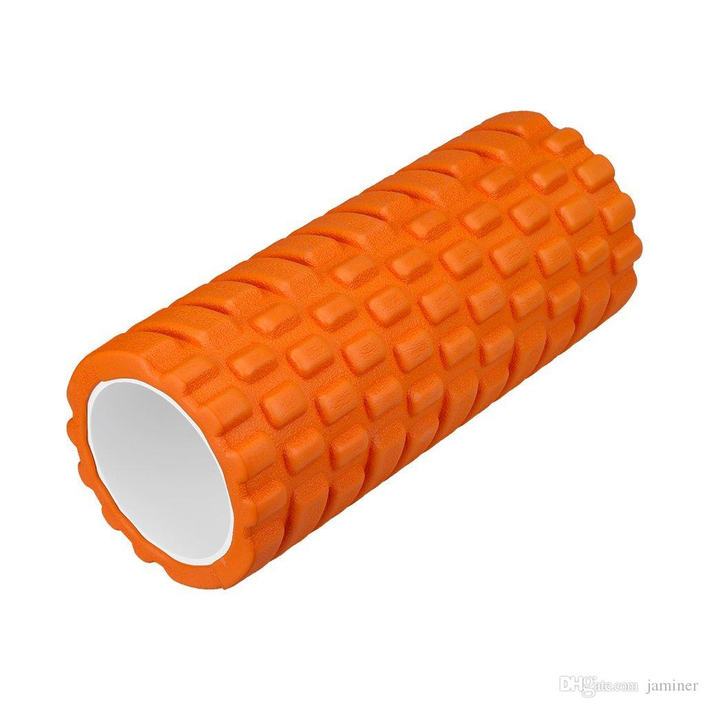 Yoga Roller for Physical Therapy,Myofascial Release-Exercise for Muscles  with Soft Deep-Tissue Massage,13 x 5 Orange