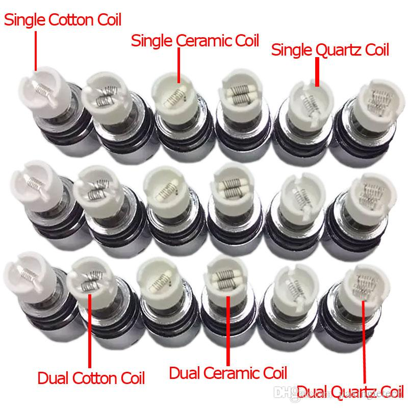 Bulb Style Glass Globe Wax Atomizer Single Dual Ceramic Quartz Cotton Coils Dry Herb Vaporizer Pen Dome Atomizer For Ego T Evod Battery
