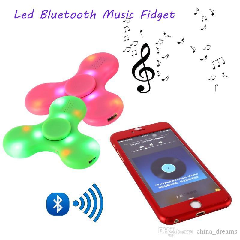 Ausmalbilder Fidget Spinner: Multifunction LED Fidget Spinner Bluetooth Speaker EDC