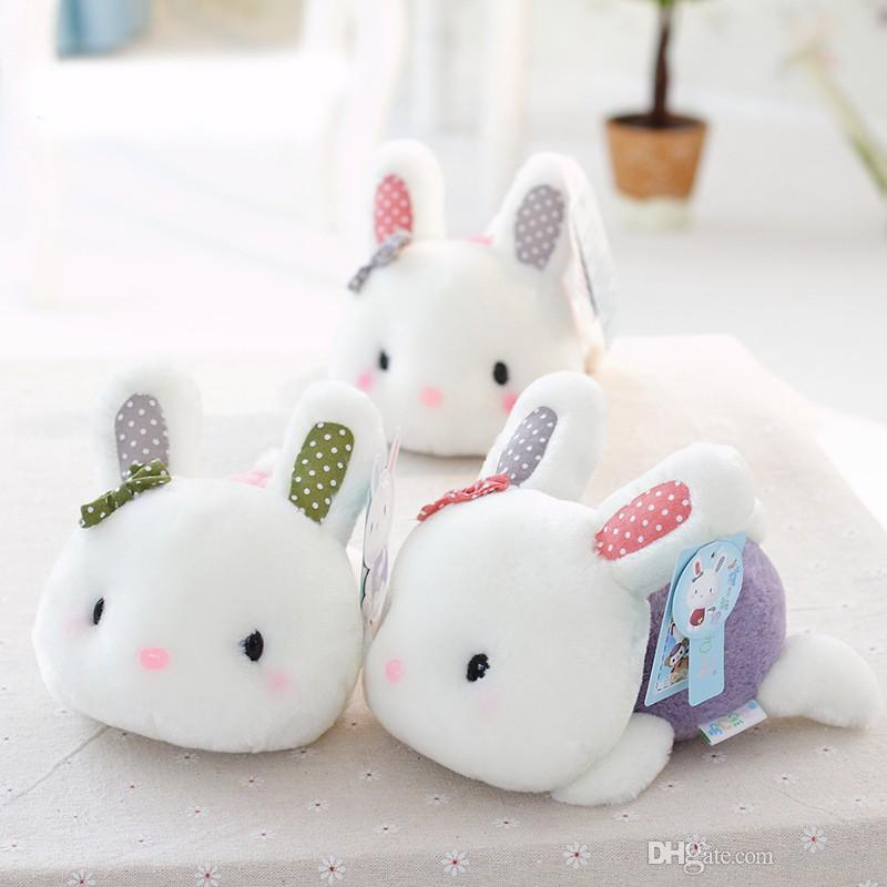 9af8f25246d 2019 Cute 18cm Rabbit Little Bunny Plush Toys Small Stuffed Animals Plush  Toy Wedding Gift For Girls Kids From Dashn01