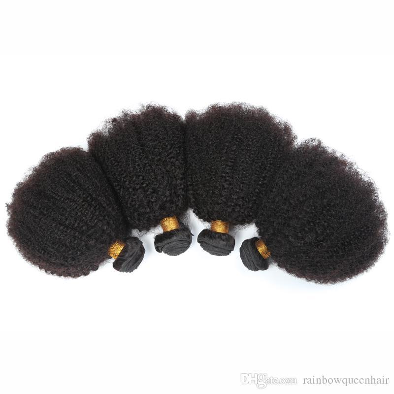 "7a Brazilian Remy Afro Kinky Virgin Hair Brazilian Short Natural Black Kinky Curly Afro Curl Human Hair Weave 8""-20"""