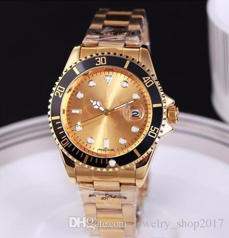 Mais recente Designer de Moda Relógio Automático Data de Luxo Homens Moda Das Mulheres Do Cinto De Aço Movimento Relógio de Quartzo Homens Relógio