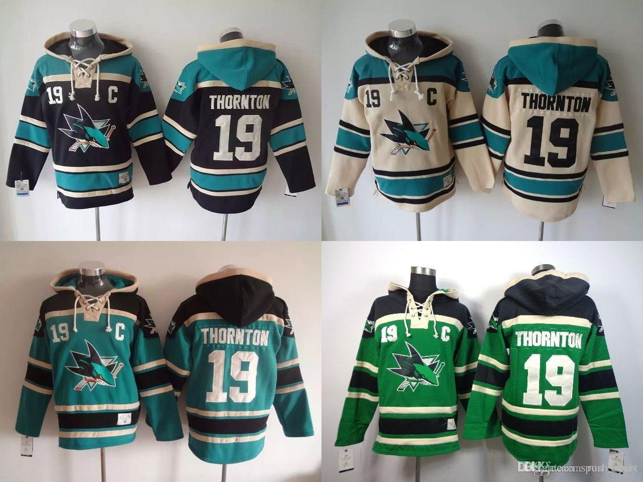 2018 San Jose Sharks Hoodies Cheap Hockey Jerseys Hoody Sweatshirts Thornton #19 Green Blue Cream Black From Rush_sport, $32.03 | Dhgate.Com